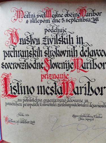 Listina mestne občine Maribor